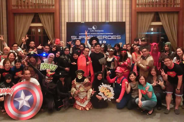 team building events - super heroes